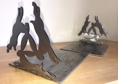 Celtic hare bookends